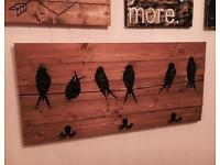 Wooden Birds Coat Rack