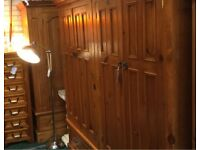 solid pine quad wardrobe