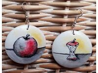 Unique hand painted earrings-different designs