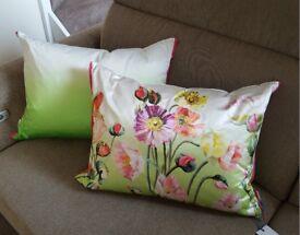 Large Bolster Cushion Designers Guild Silk Pavot Cushion 65cm x 45cm BNWT rrp£95