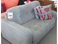Grey fabric metal action sofa bed