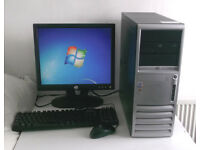 HP (PC, Monitor, K/M) 3.0GHz, All In One, Win 7, Office 2010, Pentium 4 (HT), Desktop PC, Computer
