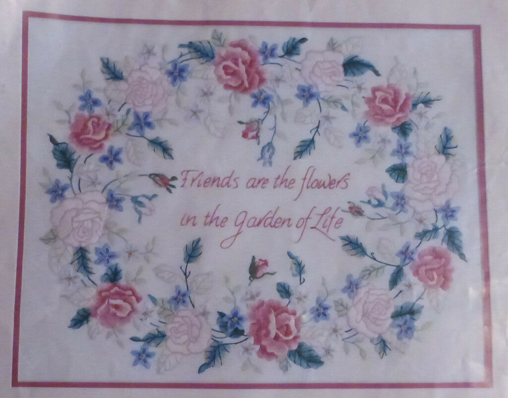 Crewel Something Special Friends Are Flowers Embroidery Kit, Ref: 40234