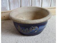 Smaller blue flower pot