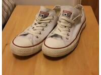 Converse white all star size 5