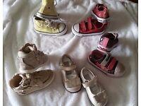 Infant Girl Size 5 Shoe Bundle