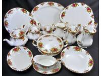 Wanted - Royal Albert china, large dinner, tea, coffee set