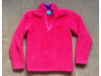 Mountain Warehouse Girl's pink fleece top, age 11-12