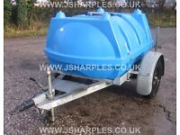 1000 LTR BOWSER TRAILER FULLY GALVANISED CHASSIS, TOP QUALITY FAST TOW TRAILER
