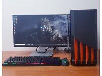 Complete Gaming PC Computer Windows 10, Intel Core i5-7400 16GB RAM & 500GB SSD Wifi Office