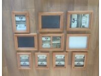 Collection of solid wood photo frames
