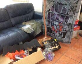 Box of Halloween bits,