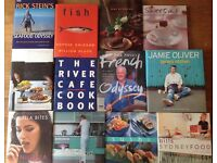 12 x Cookbooks from Top Chefs in excellent condition
