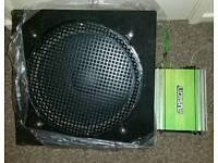 250w 15 inch car sub speaker and amp