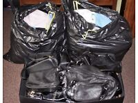 2 Very Large Bin Bags of Ladies Clothes Size 14 -16 + 18 Handbags