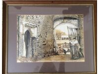 Watercolour Painting - 'Old Tudor Gate' by Harry Lloyd