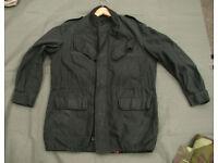 Black Belgian Military Field Jacket - size Large