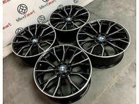 "BRAND NEW 19"" 20"" BMW MPERFORMANCE V2 STYLE ALLOYS - 5 x120 or 5 x 112- BLACK/DIAMOND CUT FINISH"