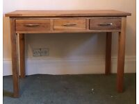 SOLID OAK CONSOLE TABLE DRESSING TABLE