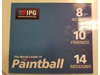 10 tickets for Paintballing at IPG (Located in Larne) face value £300 - selling for £200
