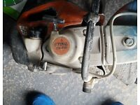 Stihl saw ts410 good condition. fully serviced new diamond blade and 5 metal discs. £250 ono. paul