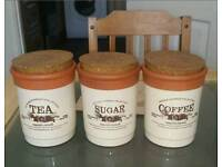 VINTAGE COLLECTION TEA CANISTERS