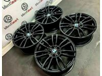 """GENUINE BMW 19"""" ALLOY WHEELS *AVAILABLE WITH TYRES* - 5 x 120 - CRYSTAL BLACK - 2229"""