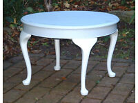 Vintage Painted Coffee Table / Side Table - With Queen Anne / Cabriolet Legs - Farrow & Ball