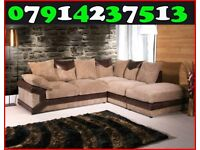 THIS WEEK SPECIAL OFFER NEW DINO SOFA 3 + 2 OR CORNER BLACK/GREY & BROWN/BEIGE SOFA 54745
