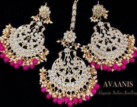 Brand New Kundan Tikka And Earrings Set