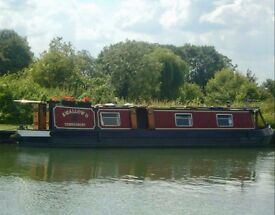 Narrow boat 45ft long converted to live aboard
