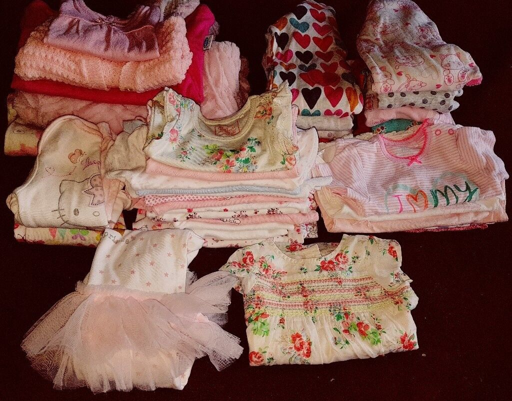 Baby Girl Clothes Bundle B Newborn And Up To 1 Month 0 3 In