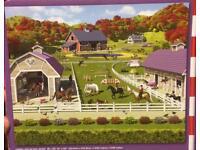 Horse Yard Wallpaper
