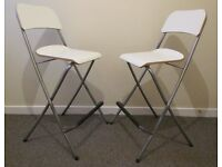 2 IKEA Foldable breakfast bar stools, FRANKLIN, with back rest, good Condition, Kitchen furniture