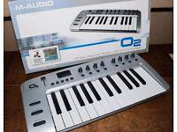 M Audio 02 25 key midi USB controller