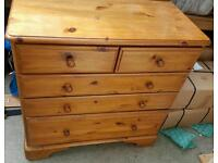 Pine Chest of Drawers - British made very good quality bedroom furniture - matching items available