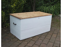Solid Pine Vintage Painted Trunk - Blanket Box - Toy Box - Coffee Table - Shabby Chic - CAN DELIVER