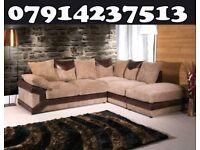 Dino 3 + 2 Or Corner Black / Grey & Brown / Beige Sofa this week only 006
