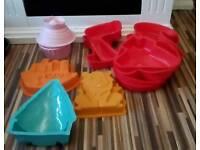 Bundle of silicone cake pans