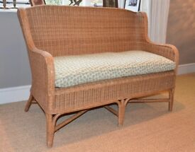 Quality WICKER conservatory sofa, chairs and tables (Laura Ashley brand)