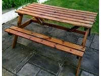 Wooden picnic bench, ideal for summer, good condition