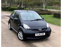 Toyota Aygo 1.0 VVT-i Black 5dr, Air Con + Alloy Wheels + FSH ! £2490 p/x welcome.