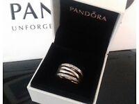 Genuine Pandora Entwining Ring Size 56