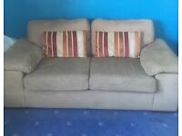 Beige sofa bed £50 Dumfries collection only