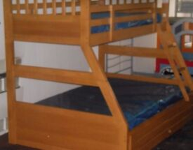New Triple Sleeper Bunk Bed with Storage Drawers with mattress's