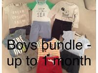Boys bundle - up to 1 month - 9/10lbs