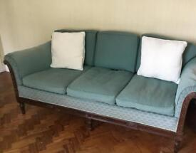 Three piece antique settee and two chairs