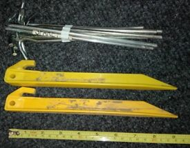 Strong Tent Awning Pegs 11 aluminum and 2 plastic, 32g each