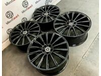 """NEW 19"""" 20"""" MERCEDES TURBINE STYLE ALLOY WHEELS *TYRES AVAILABLE* 5x112 GLOSS BLACK"""