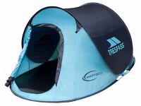 Pop Up TRESPASS Tent - Blue